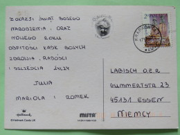 "Poland 2002 Postcard """"Christmas - Teddy Bear"""" To Germany - Church - 1944-.... Republic"