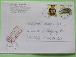 Poland 2002 Registered Cover Poznan To Mikolow - House - Zodiac Bull Taurus - 1944-.... Republic