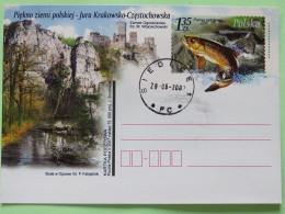 Poland 2007 Stationery Postcard - Castle River Fish - 1944-.... Republic