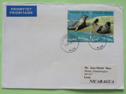 Poland 2010 Cover Gdansk To Nicaragua - Seal Phoca - 1944-.... Republiek