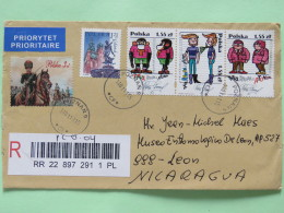 Poland 2011 Registered Cover Poznan To Nicaragua - Comics Monkey - Church Statue Zeus - Soldier Horse - 1944-.... Republic
