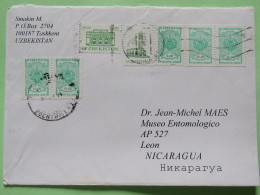 Uzbekistan 2006 Cover To Nicaragua - Arms - Buildings - Uzbekistan