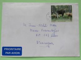 Estonia 2011 Cover Rakere To Nicaragua - Deer - EUROPE CEPT - Estland