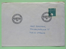 Sweden 1983 Special Cover NORDFRIMEX 83 On Cover To Vergon - Snail - Shell - Zweden