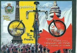 VELO.ST MARIN BF N°35 Tour De France Et Champ Monde De Velo 2003 Nxx Ttb - Ciclismo