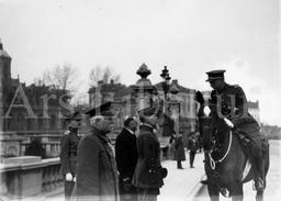 Real Photo / ROYALTY / Belgium / Belgique / Roi Albert I / Koning Albert I / Henri Joseph Eugène Gouraud - Guerre, Militaire