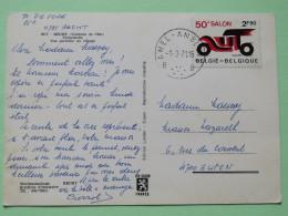 "Belgium 1971 Postcard """"Recht"""" Amel-Ambleve To Eupen - Car Expo - Belgium"