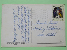 "Belgium 1972 Postcard """"good Luck Bird Horse Shoe Girl"""" To Ukkel - Christmas - Belgium"