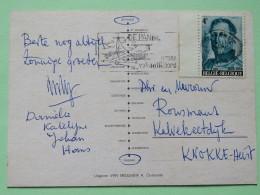 """Belgium 1974 Postcard """"""""beach"""""""" De Panne Slogan To Knokke - King Albert I - Belgium"""