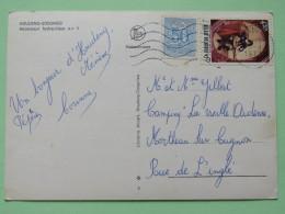 "Belgium 1977 Postcard """"Ascenseur Hydrauliques Houdeng Goegnies - Boat"""" Houdeng To Mortehan - Lion - Music Guitar Playe - Belgium"