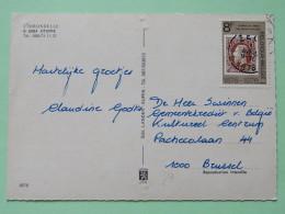 "Belgium 1978 Postcard """"L'Hirondelle - Oteppe - Horses Swallow Bird Castle Pool"""" To Bruxelles - Stamp On Stamp - King - Belgium"