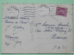 """France 1946 Postcard """"""""Paris - Eiffer Tower"""""""" Saint-Ouen To Marnes - Ceres - France"""
