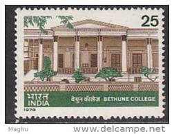 India MNH 1978, Bethune College, Education, - Neufs