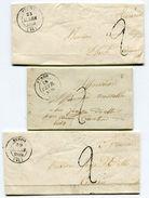 MAYENNE De EVRON 3 Lac DE 1849 Avec Dateur T 14 - Poststempel (Briefe)