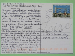 """France 2013 Postcard """"""""Le Puy En Velay - Lace"""""""" To Saint Quentin - Ship - Bridge - Covers & Documents"""