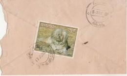 Bhutan  1993  Dog Stamp On  Phuntsholing To  Thimpu Cover # 98781   Inde Indien - Bhutan