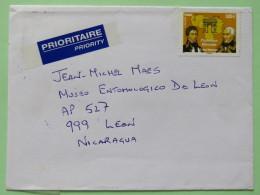 France 2010 Cover To Nicaragua - Francisco Miranda - Venezuela Joint Issue - Frankrijk