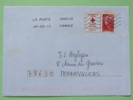 France 2010 Cover To Morainvilliers - Red Cross - Haiti - Frankrijk