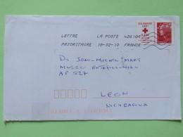 France 2010 Cover To Nicaragua - Red Cross - Haiti - Frankrijk