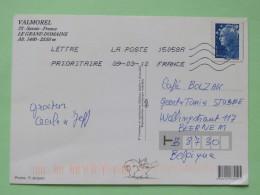 "France 2010 Postcard """"Valmorel Mountain Ski"""" To Belgium - Marianne - Frankrijk"