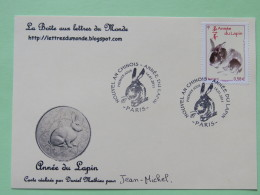 France 2011 FDC Card Year Of The Rabbit - France