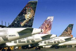 """AVIONS / AEROPORT   /  L 22   /  FRONTIER  AIRLINES   """"    /      /     """"   CPM / CPSM  10 X 15 - 1946-....: Moderne"""