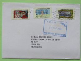 France 2014 Cover To Nicaragua - Wind Air Music Trumpet Sport Ultramar Winds Ships - France