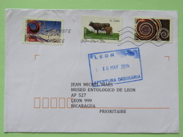 France 2014 Cover To Nicaragua - Cows - Shell - Comet - Cerf-volant - France