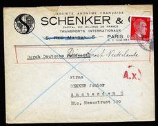 A4765) DR Dt. Dienstpost Niederlande Brief 5.1.44 Nach Amsterdam - Briefe U. Dokumente