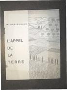 M.USSISCHKIN  L'APPEL DE LA TERRE ED.KEREN KAYEMETH LEISRAEL - JERUSALEM 1933 - Economia