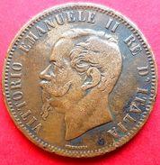♕  Italie : 10 Centesimi ' Vittorio Emanuele II ' 1866 T (Turin) - Bel état ♕ - 1861-1878 : Victor Emmanuel II