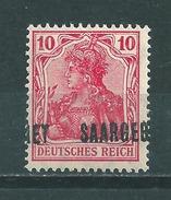 Saar MiNr. 33 **  Aufdruck Stark Verschoben  (sab31) - 1920-35 Saargebied -onder Volkenbond