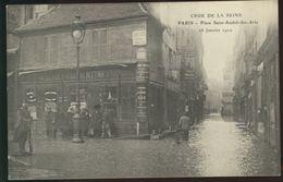 Paris - Crue De La Seine - Rue Saint-André-des-Arts Le 18 Janvier 1910 - La Crecida Del Sena De 1910