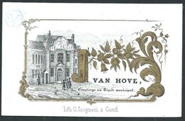 """Carte Porcelaine  """" Van Hove Concierge Du Dépôt Municipal  Lith   GAND """" 9 X 6 Cm - Gent"""