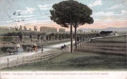 Italy - Roma - Via Appia Nuova Avanzi Dell Acquedotto Di Claudio Con Vista Dei Colli Laziali - Roma