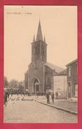 Pont-à-Celles - L'Eglise  ... Personnages Devant L'Eglise ( Voir Verso ) - Pont-à-Celles