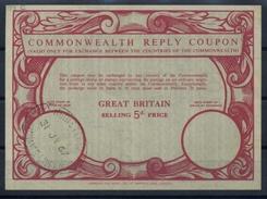 GREAT BRITAIN 1967 Type XIIIc 5d. Commonwealth Reply Coupon Reponse IRC Antwortschein O CORN EXCHANGE LIVERPOOL REGISTER - Frankreich (alte Kolonien Und Herrschaften)