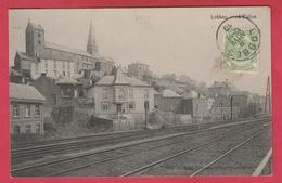 Lobbes - L'Eglise ... Et Les Voies Ferrées De La Ligne 130A - 1910 ( Voir Verso ) - Lobbes