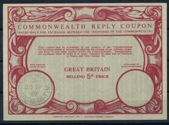 GREAT BRITAIN 1967 Type XV 5d. Commonwealth Reply Coupon Reponse IRC Antwortschein O NEWCASTLE ON TYNE 20.9.67 - Frankreich (alte Kolonien Und Herrschaften)