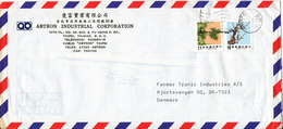 Taiwan Air Mail Cover Sent To Denmark - 1945-... Republic Of China