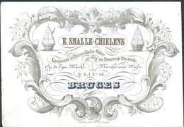 """Carte Porcelaine """" Smalle Chielens Neurre De Dixmude Marché Aux Oeufs 56 Bruges """" 13 X 9 Cm - Gent"""