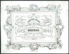 """Carte Porcelaine """" Eloy Papier Carton Estampes ... Rue Des Armuriers 17 Bruges """" 14 X 11 Cm - Gent"""