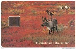 ALASKA - Bull Caribou In Fall($10.50), Tirage 4000, 11/93, Mint - Schede Telefoniche