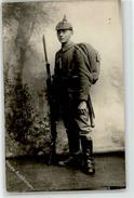 52452571 - German WWI Pickelhaube Rifle Bayo Flashlight Spade Studiophoto - Cartes Postales
