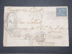 CUBA - Enveloppe De La Havane Pour La France En 1916 Avec Contrôle Postal Militaire - L 9648 - Cuba