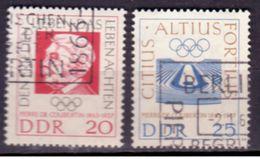 DDR 1963, Mi.Nr. 939-940, Coubertin, Ersttags-/ Sonderstempel (638) - Used Stamps