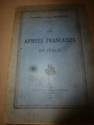 1918  Rare (avec Sa Carte Annexée)  Les Armées Française En Italie ,par Le Lieutenant Louis Madelin - Livres