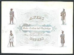 "Carte Porcelaine "" Werry Tailleur Rue Eyk Hout 62  Bruges "" 14 X 10 Cm - Gent"
