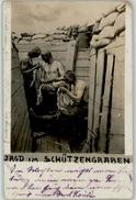 51227058 - German WWI Trench Soldier Hunting For Body Louse Photo RPPC 1915 Corner Fold - Guerra 1914-18