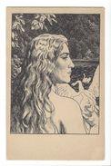 17200 - Schwanenjungfrau Par Franz Hein Jeune Fille Au Cygne - Illustrateurs & Photographes